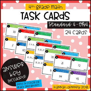 4.OA.4 Task Cards