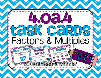 4.OA.4 Task Cards: Factors & Multiples