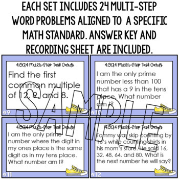 4.OA.4 Word Problems 4th Grade Factors, Multiples, Prime and Composite Numbers