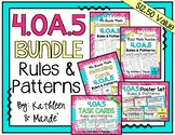 4.OA.5 BUNDLE: Rules & Patterns