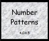 4.OA.5 Number Patterns Worksheet