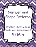 4.OA.5- Number and Shape Patterns Teaching Pack