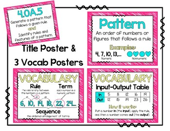 4.OA.5 Poster Set: Rules & Patterns