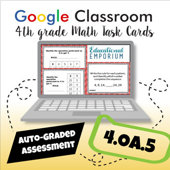 4.OA.5 Task Cards Digital: Rules and Patterns
