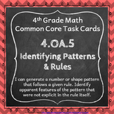 4.OA.5 Task Cards ⭐ Rules and Patterns Centers