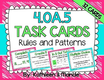 4.OA.5 Task Cards: Rules and Patterns