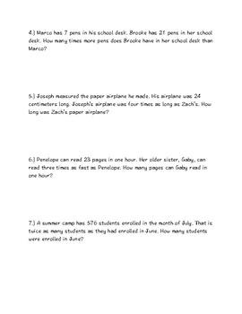 4.OA.A.1&2 Multiplicative Comparisons