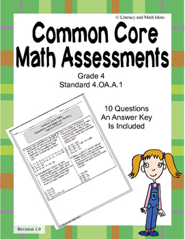 4.OA.A.1 Common Core Assessment (Grade 4)