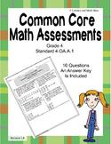 4.OA.A.1 Common Core Assessment (Grade 4)