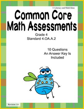 4.OA.A.2 Common Core Assessment (Grade 4)