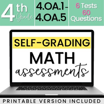 4.OA Algebra Assessments - Math Review - 4th Grade