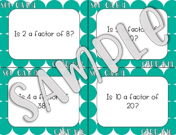 4.OA.B.4 Finding Factors, Prime, and Composite Task Cards