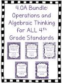 4.OA Bundle- Worksheets, Task Cards and Assessments for AL