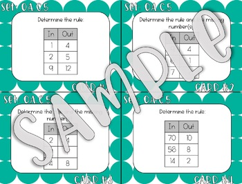 "4.OA.C.5 ""In and Out"" Boxes 
