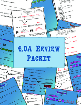 4.OA Review Packet