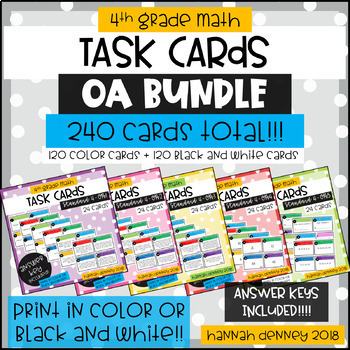 4.OA Task Cards BUNDLE