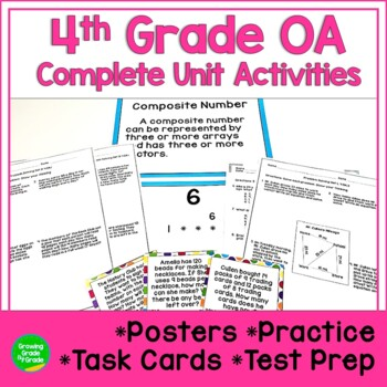 Operations and Algebraic Thinking Activities 4th Grade