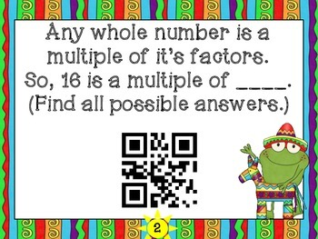 4-OA4 Prime and Composite, Factor Pairs, and Multiples with QR Codes