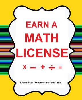 "KIDS EARN ""OFFICIAL MATH LICENSES"" with MULT,SUB, ADD, and"