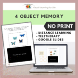 4 Object Memory (Google Slides / Distance Learning / Telet