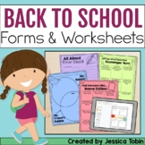 Open House Forms and First Week Activities- Digital Back To School Google Slides
