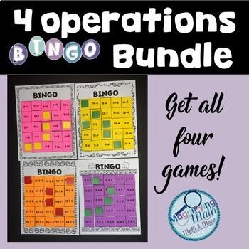 4 Operations Fact Practice BINGO Bundle