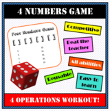4 Operations Four Numbers Game