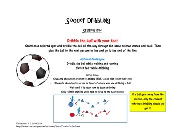 4 P.E. Kicking and Trapping Skill Stations w/lesson, diagram & station posters