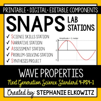 4-PS4-1 Wave Properties Lab Stations Activity