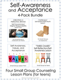 4-Pack BUNDLE!  Self-Awareness & Acceptance Small Group Counseling Lesson Plans