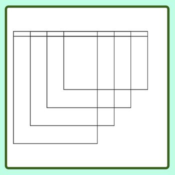 4 Page Flip Book Template - Blank FlipBook Clip Art Set for Commercial Use