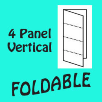 4 Panel Foldable Graphic Organizer - Vertical Layout
