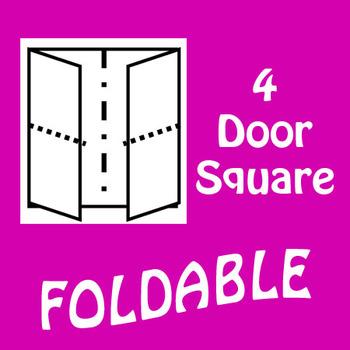 4 Panel Square Shaped Foldable Graphic Organizer