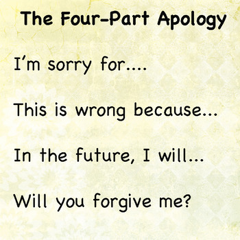 4 Part Apology Poster