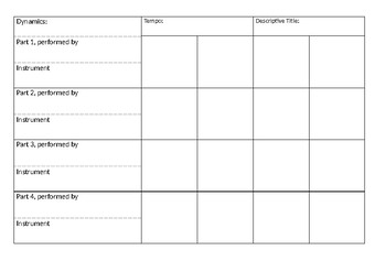 4 Part Ostinato Group Composition