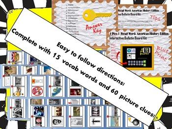 4 Pics 1 Vocab Word: American History Interactive Bulletin Board Kit