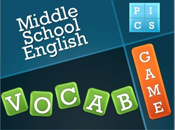 4 Pics 1 Word-Middle School Vocabulary Game