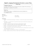 4 Picture Retell Lesson Plan about Cattle for Writing/ELD