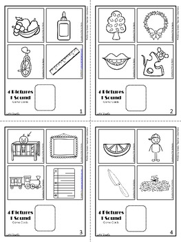 4 Pictures, 1 Sound Long Vowel Game Cards