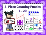 4-Piece Counting Puzzles Numbers 1-20