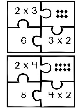 4-Piece Multiplication Puzzles