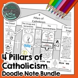 4 Pillars of Catholicism Doodle Notes BUNDLE