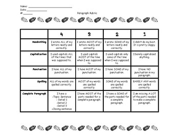 4 Point Analytic Paragraph Writing Rubric