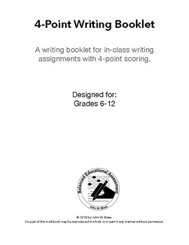4-Point Essay Writing Booklet