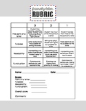 4 Point Friendly Letter Rubric