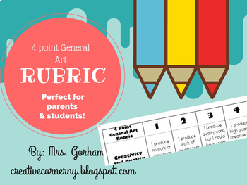4 Point General Art Rubric