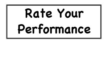 4-Point Performance Rubric Signs