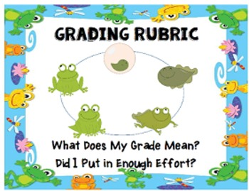 4 Point Rubric Frog Themed