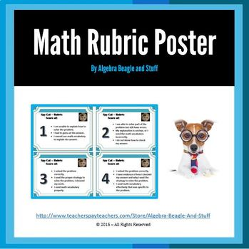 Rubric Math Poster