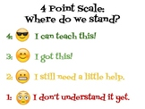 4 Point Scale - Emoji Edition